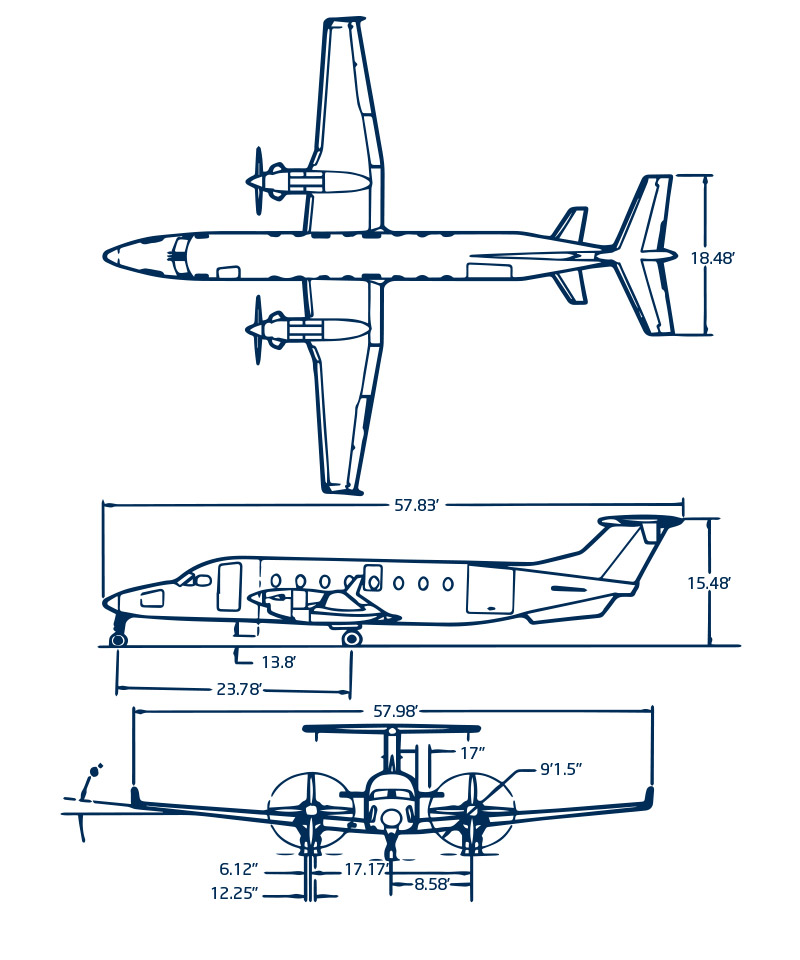 beech-1900D technical Diagram